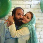نرگس محمدی در آغوش همسرش علی اوجی