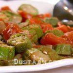 طرز تهیه خوراک بامیه به سبکی آسان و خوشمزه
