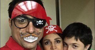 تصویری از امیرحسین رستمی بازیگر سینما و تلویزیون را به همراه همسر و فرزندش در جشن تولد ۴۲ سالگی اش را مشاهده م...