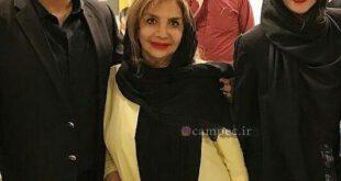 تصویری از سام درخشانی بازیگر ۴۳ ساله سینما و تلویزیون را به همراه مادر و همسرش عسل امیرپور مشاهده می کنید. ...