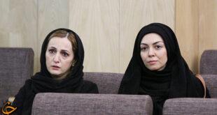 مجله انلاین دوستان : آزاده نامداری و فرزاد حسنی در مراسم ختم ارجمند    ...