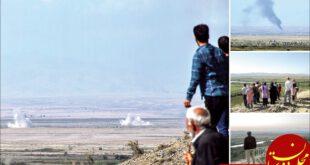 مشاهدات 2 عکاس که از صبح تا شب در لبمرز، تصاویر عجیبی از حضور تعدادی شهروند ایرانی برای تماشای جنگ قرهباغ ثب...