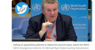 سازمان WHO اعلام کرد عدم توانایی در قرنطینه بیماران آلوده و شکست سیستم ردیابی، مسبب موج دوم شیوع کووید 19 است...