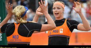 تیم ملی والیبال ساحلی زنان هلند در اقدامی جالب برای حمایت از دختران محجبه مصری با پوشش کامل در مسابقه خود ظاهر...