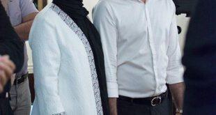 امیرعلی نبویان نویسنده، مجری و بازیگر ایرانی به همراه همسرش در مراسم رونمایی از کتاب سه روح نوشته استفانو آنسل...
